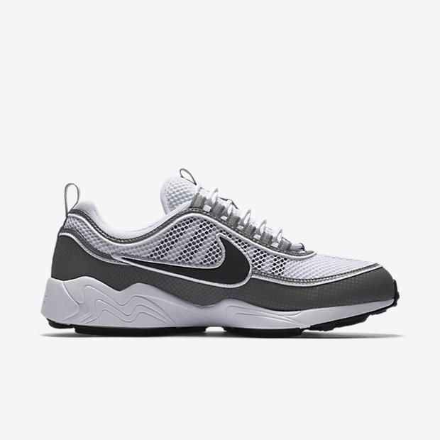 da97f8823e6 ... Chaussures de sport Nike Air Zoom Spiridon homme Blanc Cendré clair Noir  ...