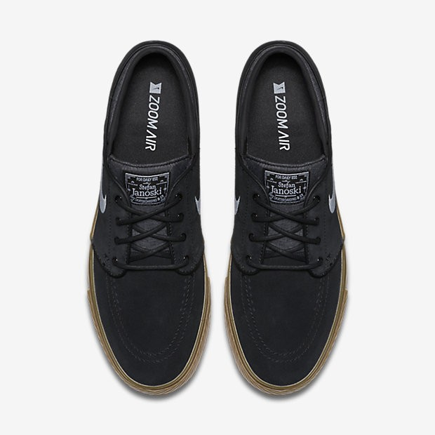 9668fed3186a6 ... Chaussures de sport Nike SB Zoom Stefan Janoski homme Noir/Gomme marron  clair/Blanc ...