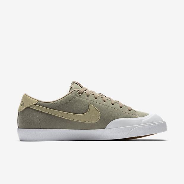 new arrival dc454 04652 ... Chaussures de sport Nike SB Zoom All Court CK homme Kaki Blanc Gomme  marron ...