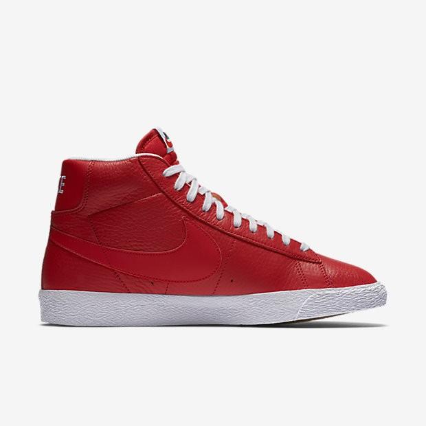 Vente Chaussures de sport Nike Blazer Mid Premium 09 homme Rouge