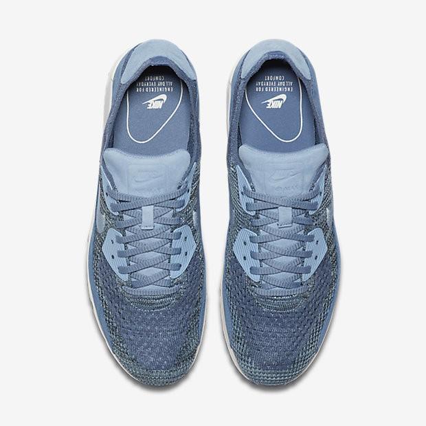 finest selection 11301 7058d ... Chaussures de sport Nike Lab Air Max 90 Flyknit homme Brouillard  d océan Platine ...