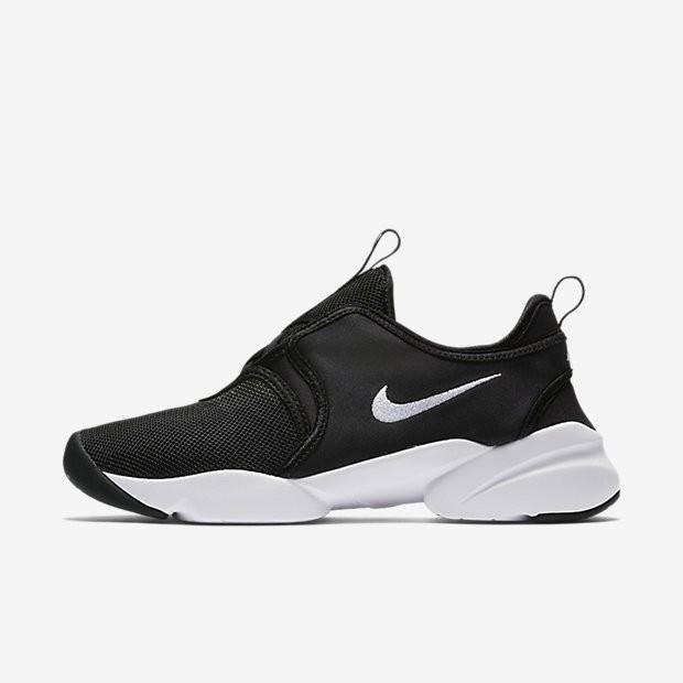 7254fe53d13 Bon marché Chaussures de sport Nike Loden femme Noir Blanc Blanc ...