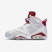 Chaussures de sport Nike Air Jordan 6 Retro homme Blanc/Platine pur/Rouge sportif
