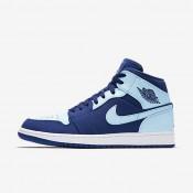 Chaussures de sport Nike Air Jordan 1 Mid homme Royal équipe/Blanc/Bleu glacé