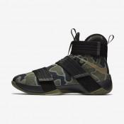 Chaussures de sport Nike Zoom LeBron Soldier 10 SFG homme Noir/Olive moyen/Bambou
