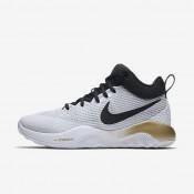 Chaussures de sport Nike Zoom Rev 2017 homme Blanc/Or métallique/Platine pur/Noir