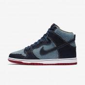 Chaussures de sport Nike SB Dunk High OG « Reese Denim » homme Bleu nuit marine/Blanc/Rouge profond/Bleu nuit marine