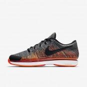 Chaussures de sport Nike Court Zoom Vapor Flyknit Hard Court homme Gris foncé/Aigre/Blanc/Noir