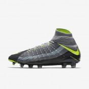 Chaussures de sport Nike Hypervenom Phantom 3 DF SE FG homme Gris loup/Discret/Anthracite/Volt
