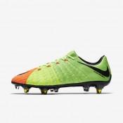 Chaussures de sport Nike Hypervenom Phantom 3 SG-PRO Anti-Clog homme Vert électrique/Hyper orange/Volt/Noir