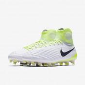 Chaussures de sport Nike Magista Obra II FG homme Blanc/Volt/Platine pur/Noir