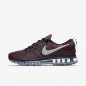 Chaussures de sport Nike Flyknit Air Max homme Noir/Bleu moyen/Rouge équipe/Blanc