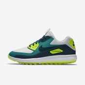 Chaussures de sport Nike Air Zoom 90 IT homme Platine pur/Turquoise Rio/Volt/Turquoise nuit