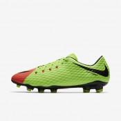 Chaussures de sport Nike Hypervenom Phelon 3 FG homme Vert électrique/Hyper orange/Volt/Noir