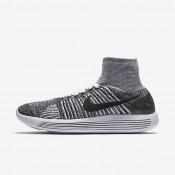 Chaussures de sport Nike LunarEpic Flyknit femme Blanc/Noir