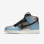 Chaussures de sport Nike Dunk High LX femme Argent métallique/Bleu Mica/Ivoire/Noir