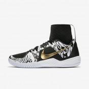 Chaussures de sport Nike Court Flare BHM femme Blanc/Noir/Or métallique