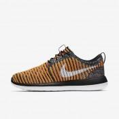 Chaussures de sport Nike Roshe Two Flyknit femme Noir/Mangue brillant/Dorure/Blanc