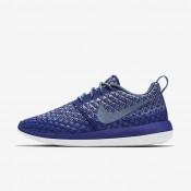 Chaussures de sport Nike Roshe Two Flyknit 365 femme Bleu royal profond/Gris loup/Blanc/Brouillard d'océan