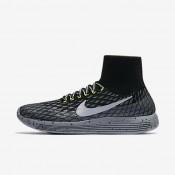 Chaussures de sport Nike LunarEpic Flyknit Shield femme Noir/Gris foncé/Discret/Argent métallique