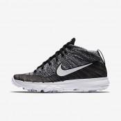 Chaussures de sport Nike Flyknit Chukka femme Noir/Blanc
