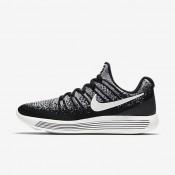 Chaussures de sport Nike Lab Gyakusou Lunar Epic Low Flyknit 2 femme Noir/Renard bleu/Voile