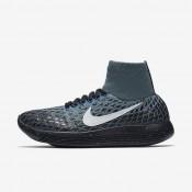 Chaussures de sport Nike Lab Lunar Epic Flyknit Shield femme Vert céladon/Noir/Bleu coureur/Voile