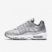 Chaussures de sport Nike Air Max 95 Premium QS homme Argent métallique/Noir/Blanc/Rouge intense
