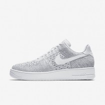 Chaussures de sport Nike Air Force 1 Flyknit Low homme Gris froid/Blanc/Blanc
