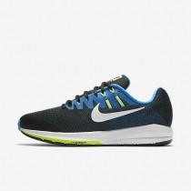 Chaussures de sport Nike Air Zoom Structure 20 homme Noir/Bleu photo/Vert ombre/Blanc