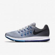 Chaussures de sport Nike Air Zoom Pegasus 33 homme Gris loup/Gris foncé/Bleu photo/Noir