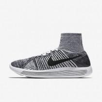 Chaussures de sport Nike LunarEpic Flyknit homme Blanc/Noir