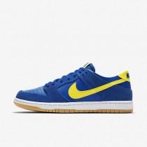 Chaussures de sport Nike SB Dunk Low Pro homme Royal éclatant/Blanc/Gomme marron clair/Éclair