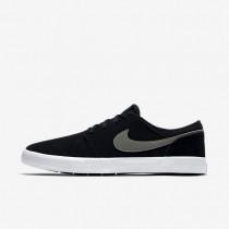Chaussures de sport Nike SB Solarsoft Portmore II homme Noir/Blanc/Gris foncé