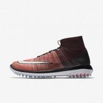 Chaussures de sport Nike Flyknit Elite homme Bordeaux foncé/Orange max/Melon brillant/Blanc