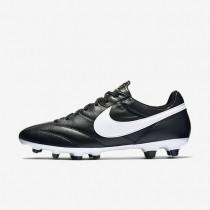 Chaussures de sport Nike Premier FG homme Noir/Flamme orange/Blanc sommet