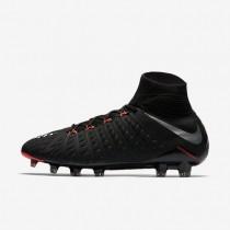 Chaussures de sport Nike Hypervenom Phantom 3 DF FG homme Noir/Noir/Anthracite/Argent métallique