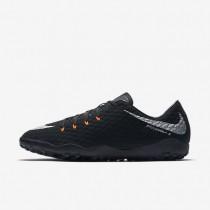Chaussures de sport Nike HypervenomX Phelon 3 TF homme Noir/Noir/Anthracite/Argent métallique