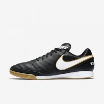 Chaussures de sport Nike Tiempo Genio II Leather IC homme Noir/Blanc