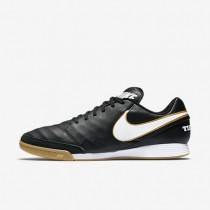 Chaussures de sport Nike Tiempo Genio II Leather IC homme Noir/Blanc