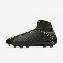 Chaussures de sport Nike Hypervenom Phantom 3 DF Tech Craft FG homme Noir/Séquoia/Vert feuille de palmier/Vert électrique