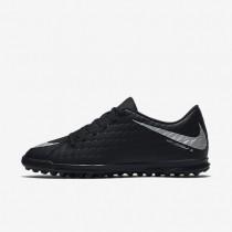 Chaussures de sport Nike HypervenomX Phade 3 TF homme Noir/Noir/Cramoisi total/Argent métallique
