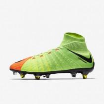 Chaussures de sport Nike Hypervenom Phantom 3 DF SG-PRO Anti-Clog homme Vert électrique/Hyper orange/Volt/Noir