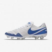 Chaussures de sport Nike Tiempo Legend VI SE FG homme Blanc sommet/Blanc/Noir/Bleu royal