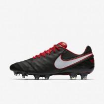 Chaussures de sport Nike Tiempo Legend VI FG homme Noir/Rouge université/Blanc/Blanc