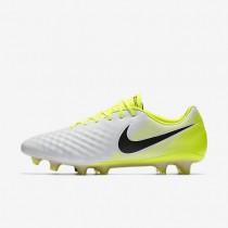 Chaussures de sport Nike Magista Opus II homme Blanc/Volt/Gris loup/Noir