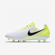 Chaussures de sport Nike Magista Onda II FG homme Blanc/Volt/Platine pur/Noir