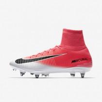 Chaussures de sport Nike Mercurial Superfly V SG-PRO homme Rose coureur/Blanc/Noir