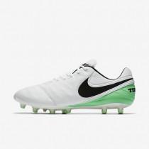 Chaussures de sport Nike Tiempo Legend VI AG-PRO homme Blanc/Vert Electro/Noir