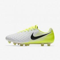 Chaussures de sport Nike Magista Opus II AG-PRO homme Blanc/Volt/Gris loup/Noir